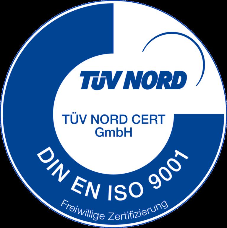 DIN EN ISO 9001 Zertifikat