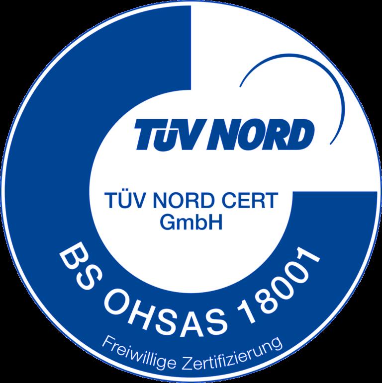 BS OHSAS 18001 Zertifikat